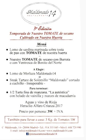 menu tomate